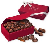 Sea Salt Caramels and Truffles in Red Magnetic Closure Box