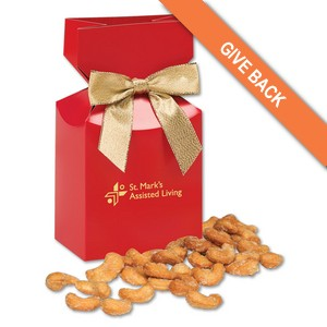 Honey Roasted Cashews in Red Gift Box