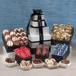 Individually-Wrapped Chocolate Abundance Gift Tower