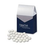 Chocolate Gourmet Mints in Navy & Silver Gable Top Gift Box