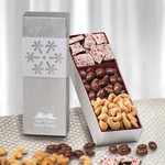 Silver Snowflake Trio with Chocolates and Nuts