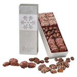 Silver Snowflake Trio Chocolate And Nuts in Silver Snowflake Box