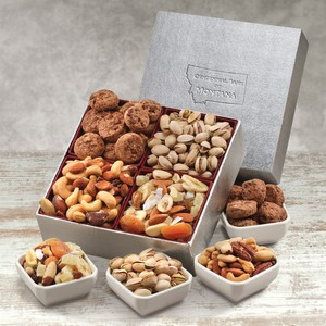 Contemporary Flair Gift Box with Nuts and Trail Mix