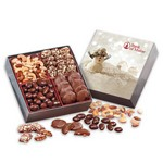 Gourmet Holiday Gift Box with Snowman Sleeve