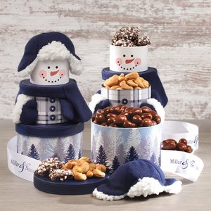 Rustic Snowman Tower
