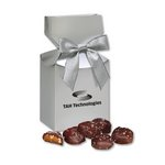 Sea Salt Almond Turtles in Silver Premium Delights Gift Box