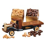 1930-Era Flat Bed Truck with Chocolate Almonds & Extra Fancy Jumb