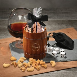 Classic Whiskey Barrel Cup with Extra Fancy Jumbo Cashews
