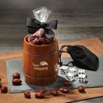 Classic Whiskey Barrel Cup with Chocolate Covered Almonds