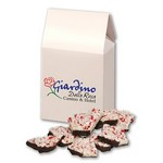 Peppermint Bark in Gable Top Gift Box with Full Color Imprint