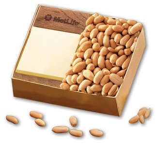 Walnut Post-it Note Holder with Choice Virginia Peanuts