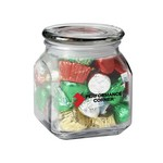 Contemporary Glass Jar - Hershey's Holiday Mix (10 oz.)