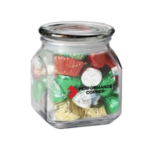 Contemporary Glass Jar - Hershey's Holiday Mix (10 oz.)