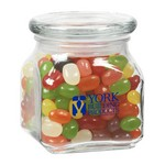 Contemporary Glass Jar - Assorted Jelly Beans (10 oz.)