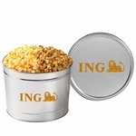 2 Way Popcorn Tins - Caramel & Cheddar Popcorn (1.5 Gallon)