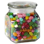 Contemporary Glass Jar - Gourmet Jelly Beans (20 oz.)