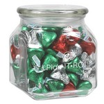 Contemporary Glass Jar - Hershey's? Holiday Kisses? (20 oz.)