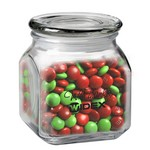 Contemporary Glass Jar - Holiday M&M's (20 oz.)
