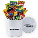 3.5 Gallon Crowd Pleaser Tin filled with Candy and Cookies