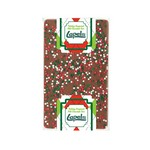 1 oz Belgian Chocolate Bar with Holiday Nonpareil Sprinkles