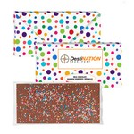 3.5 oz Executive Custom Chocolate Bar with Rainbow Nonpareils
