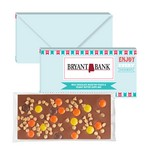 3.5 oz Executive Custom Chocolate Bar w/ Reese's Pieces & Peanut