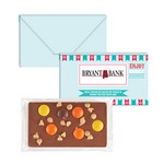 1 oz Executive Custom Chocolate Bar w/ Reese's Pieces & Peanut Bu