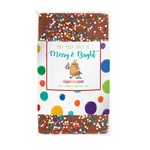 1 oz Custom Chocolate Bar with Rainbow Nonpareil Sprinkles
