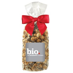 Gourmet Popcorn Gift Bag - White & Dark Chocolate Swirl Popcorn