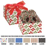 Gala Gift Box - 4 Chocolate Covered Pretzel Knots with Holiday