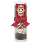 Small Do-It-Yourself Chocolate Covered Pretzel Kit in Tube (Holid