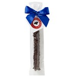 Milk Chocolate Covered Pretzel Rod - Dark Chocolate Chips