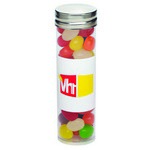 Large Tubes with Silver Cap - Assorted Jelly Beans