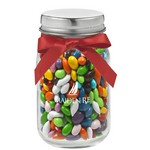 4 oz. Glass Mason Jar with Chocolate Covered Sunflower Seeds