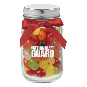 4 oz. Glass Mason Jar with Assorted Jelly Beans