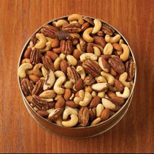 Deluxe Mix Nuts Custom Gift Tin (no Peanuts) 32 oz.