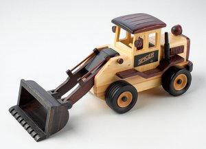 Wooden Front End Loader with Pistachios