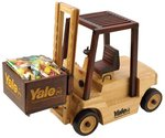 Wooden Fork Lift  Filled with Chocolate Almonds