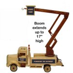 Wooden Collectible Lift Bucket Truck with Cinnamon Almonds