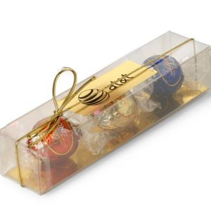 3 Individually Wrapped Switzerland Lindor Balls in Clear Box