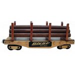 Wooden Collectible Train Logging Car with Jelly Bellys