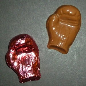 Chocolate Pink Foiled Boxing Glove