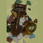 Chocolate Hard Hat, Shovel & Rocks Trio - Construction Favor