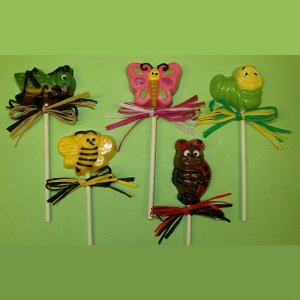 Cute Critter Pops Chocolate Ladybug, Caterpillar, Butterfly, More