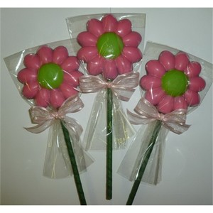 Cosmos Chocolate Flower Pop Tied with a Bow