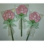Fancy Chocolate Blooming Rose Pop