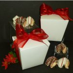 Quart Size Chocolate Covered Fortune Cookie Take Out Pail