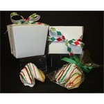 Holiday Chocolate Covered Fortune Cookie 1/2 Pint Take Out Pail