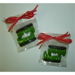 Chocolate Fangs in Cello Bag with Raffia Bow