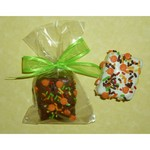 Halloween Chocolate Crispie Bites in Cello, Tied with Bow